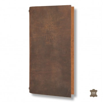 Genuine Leather Wine List Cover