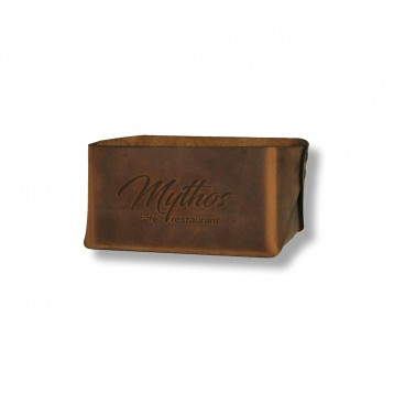 S Leather Bread Basket Small