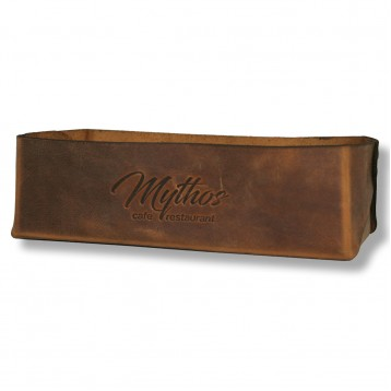 S Leather Bread Basket Large